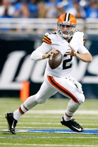 Johnny Manziel is already making it difficult on the Browns' leaders to select a starting quarterback.