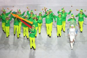 Delicious lemon-lime Olympic outfits.