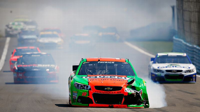 Practice at Watkins Glen was a disaster for Danica Patrick -- a blown engine and a shock failure that led to a crash into the barrier.