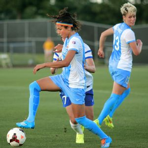 Nadia Nadim plays for Fortuna Hjorring in Denmark's top division, and also helped the Danish national team reach the semifinals of the European championship a year ago.