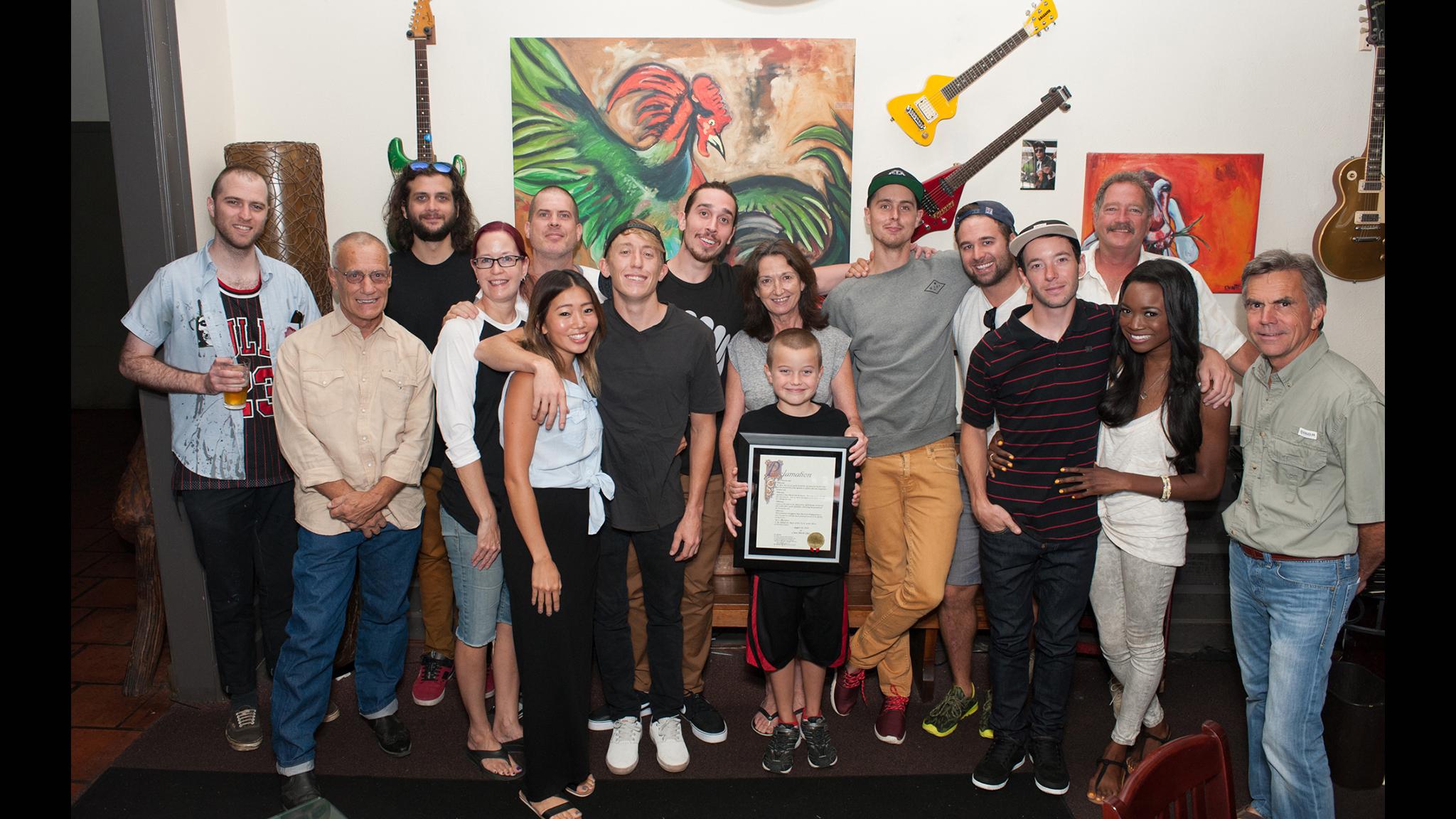 Empire BMX crew, family and friends