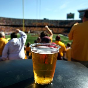 There will be 21 on-campus stadiums where beer sales will be permitted this season. According to a survey, about half of those schools' concessions revenue is derived from alcohol sales.