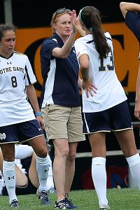 Theresa Romagnolo has been a hit with the Notre Dame players, many of whom had played only for male coaches.