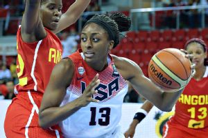 Nneka Ogwumike helped lead the U.S. women's national team to a record 119-44 rout of Angola on Tuesday.
