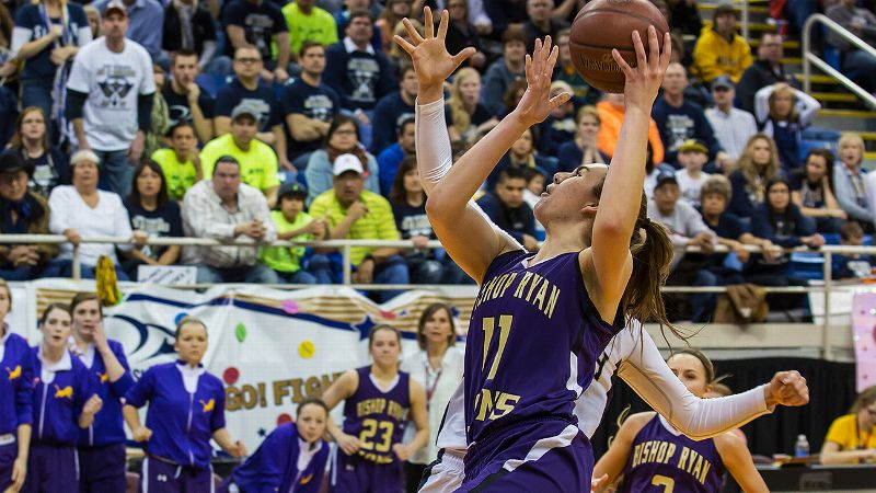 Hannah Stewart has led Bishop Ryan to 57 consecutive wins, including two North Dakota state championships.