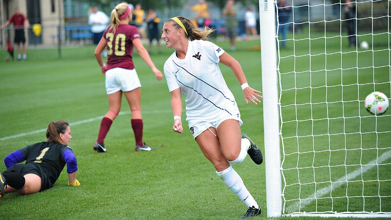 Ankle, knee, shoulder ... you name an injury, and West Virginia's Kate Schwindel has probably had it. But when she plays, she scores.