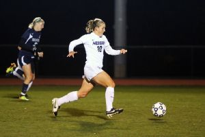 NCAA Women's Soccer Marisa Weaver is the second-leading scorer for the Messiah College Falcons, who have outscored opponents 76-4.