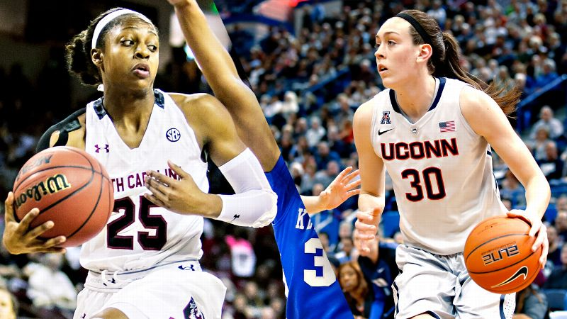 Tiffany Mitchell, South Carolina, Breanna Stewart, University of Connecticut
