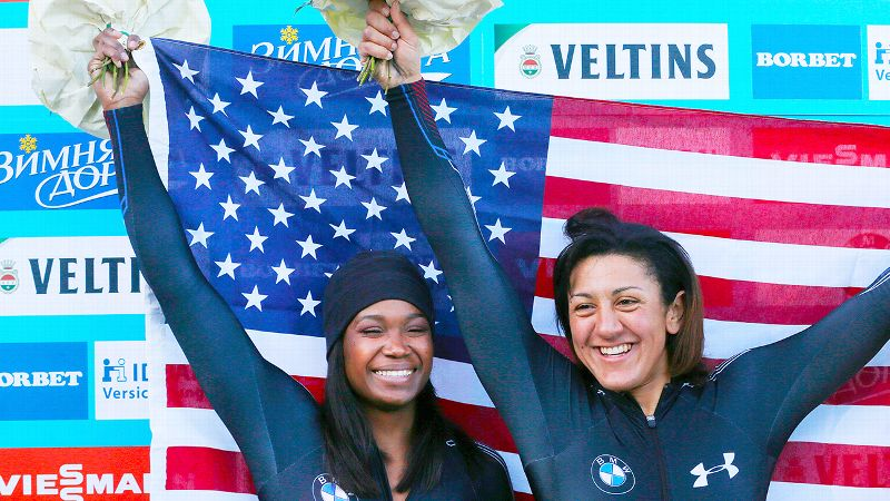 Elana Meyers Taylor and Cherrelle Garrett