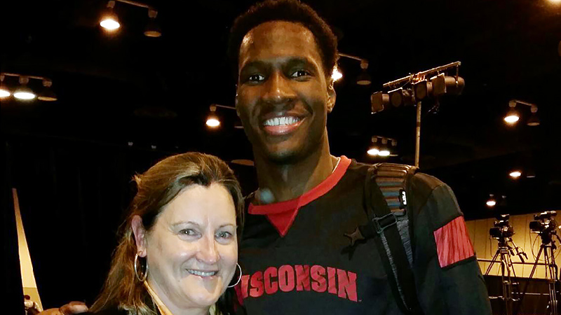 Nigel Hayes and stenographer