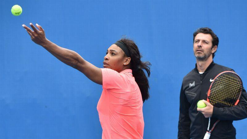 Serena Williams in training