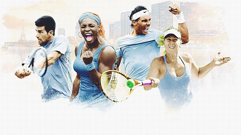 Novak Djokovic, Serena Williams, Rafael Nadal and Maria Sharapova