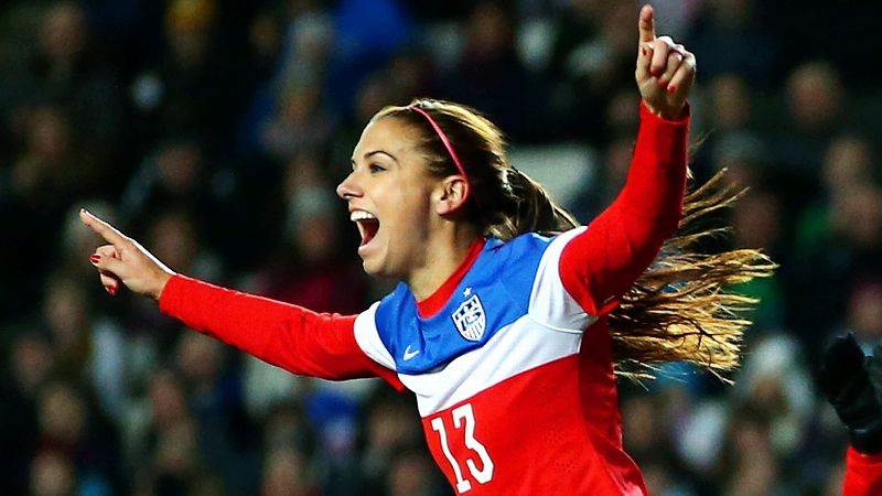 No. 2: Alex Morgan, United States, forward
