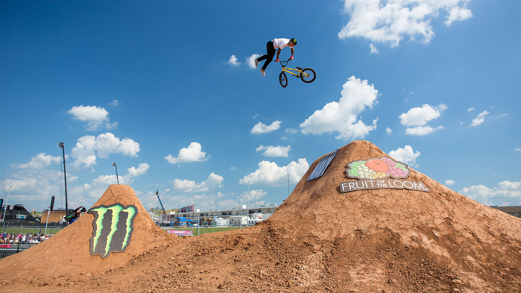Total BMX pro Kyle Baldock won his third consecutive gold medal in BMX Dirt on Saturday at X Games Austin 2015 in a contest that remained undecided until the very last run. Baldock is now the second rider to win three BMX Dirt golds in a row, after Corey Bohan's victory streak from 2004 to 2006.