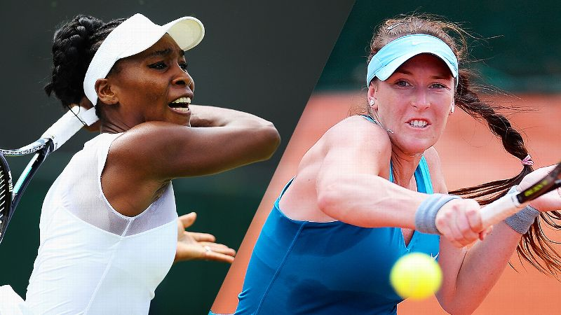 Venus Williams and Madison Brengle