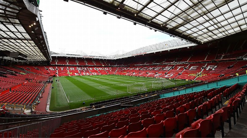 A general view of Manchester United's stadium Old Trafford