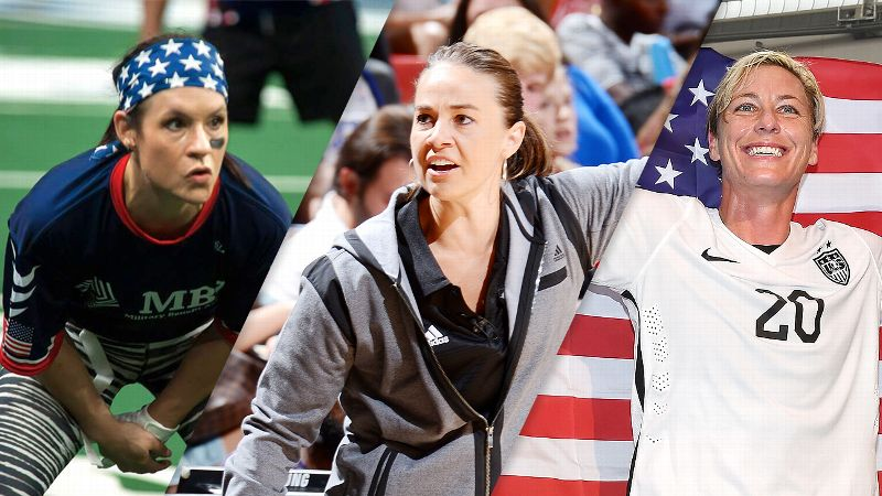 Jen Welter, Becky Hammon, and Abby Wambach