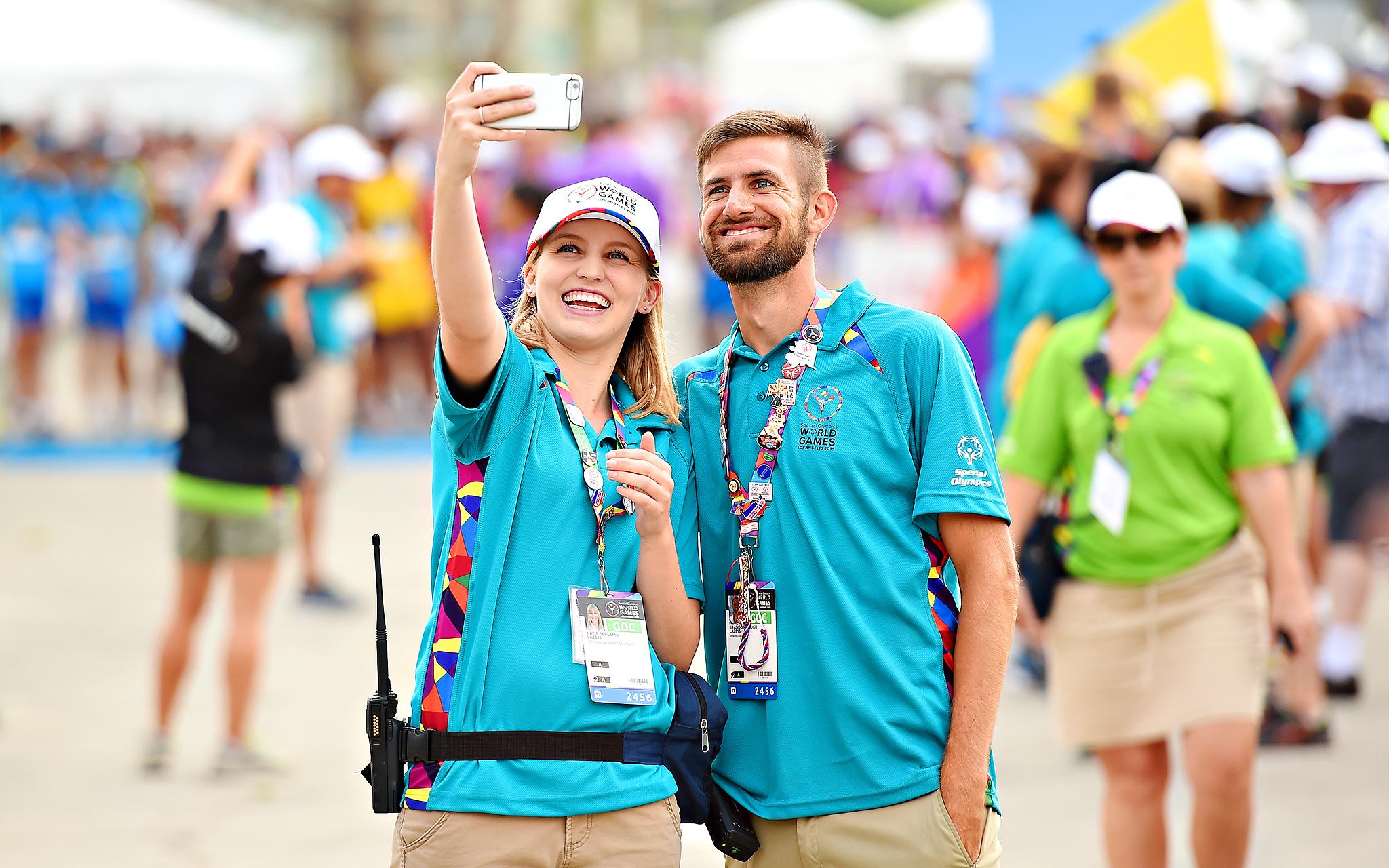 Volunteer selfie
