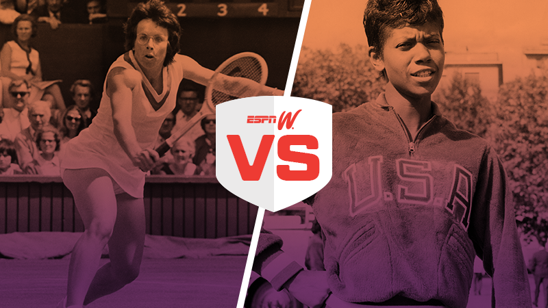 espnW Best Female Athlete Matchup Bilie Jean King Wilma Rudolph