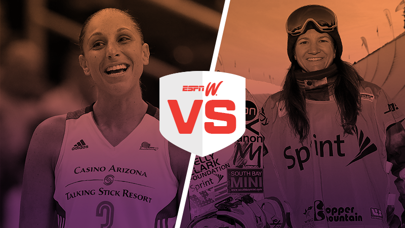 espnW Best Female Athlete Matchup Diana Taurasi Kelly Clark