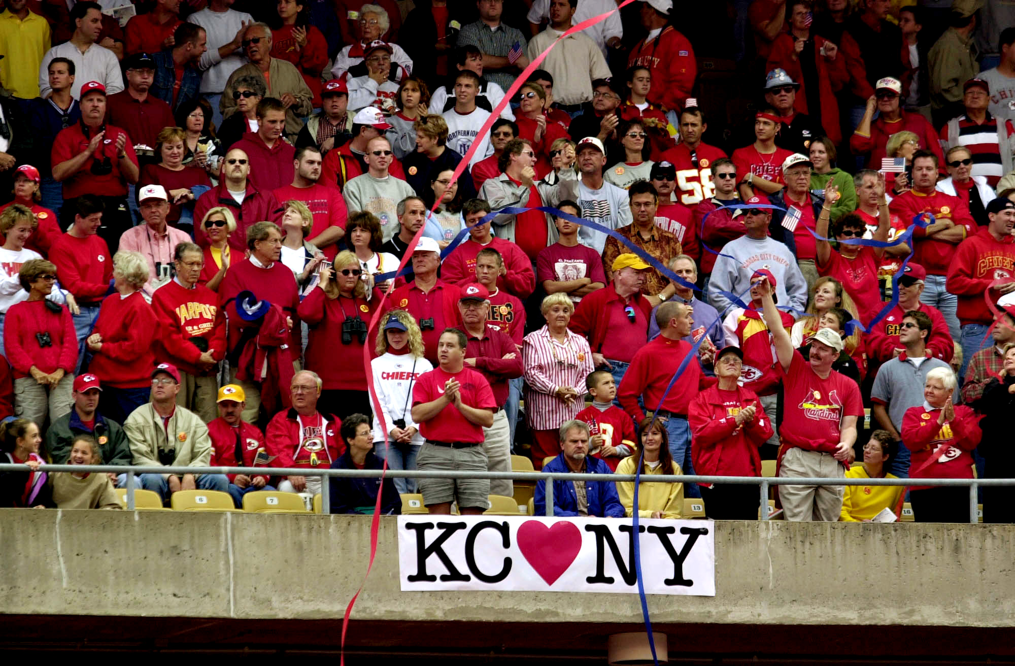 Kansas City Chiefs fans cheer