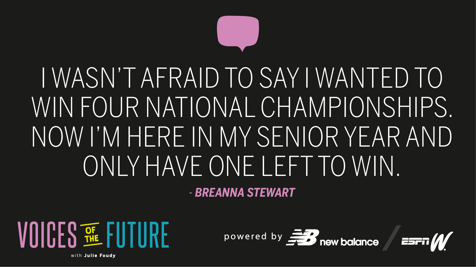 Voices of the Future - Breanna Stewart