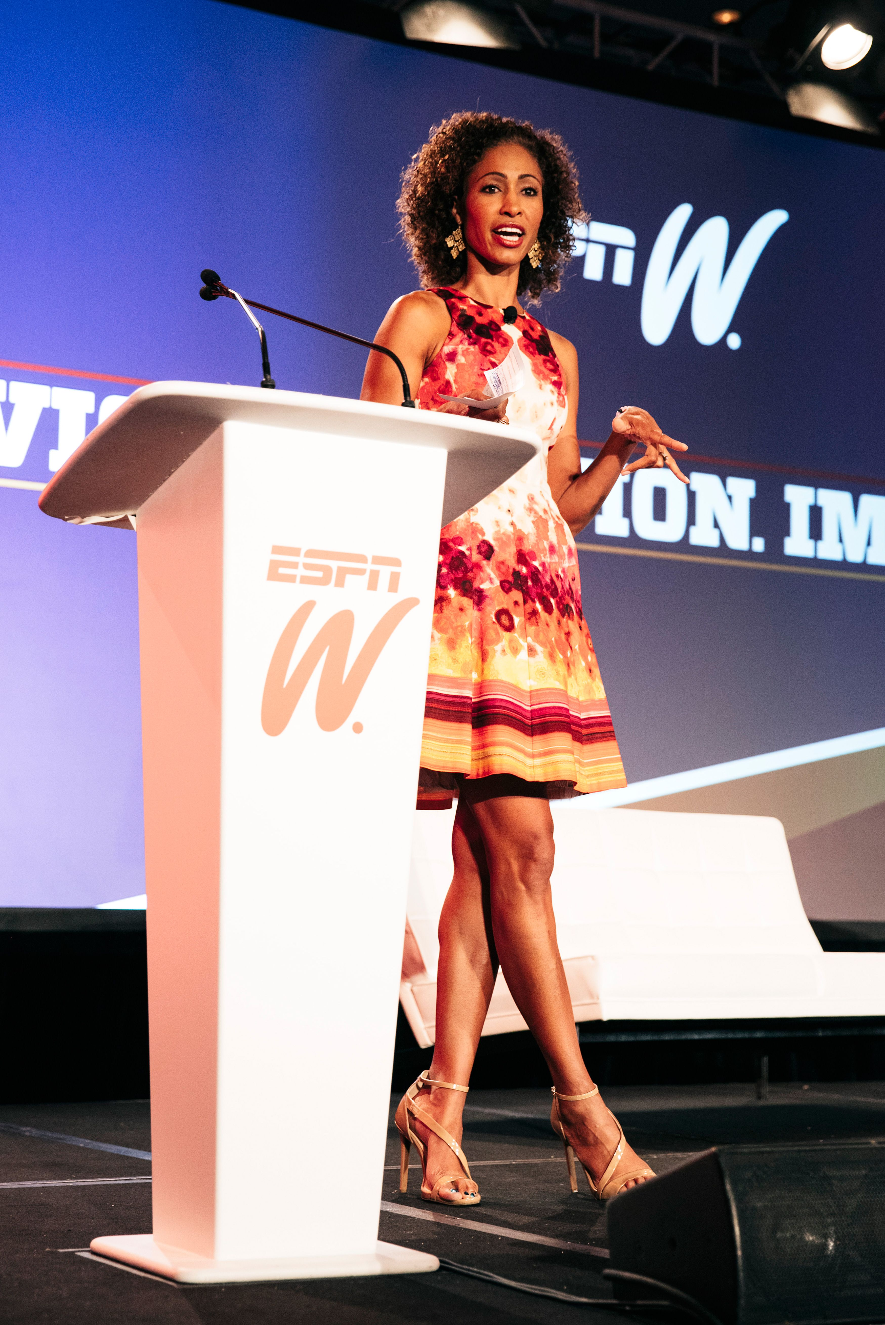 2015 espnW: Women  Sports Summit: Sage Steele welcome