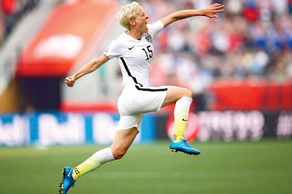 Megan Rapinoe, who hasn't played in a game for the United States since tearing the ACL in her right knee in December, was selected to the roster for the Rio Olympics.