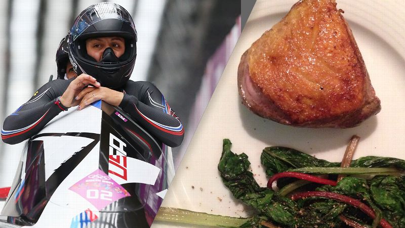 Elana Meyers and her meal