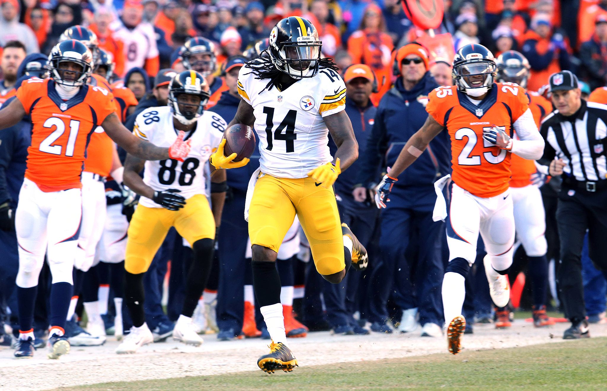Sammie Coates - Photos: AFC Divisional Playoff, Steelers vs. Broncos ...