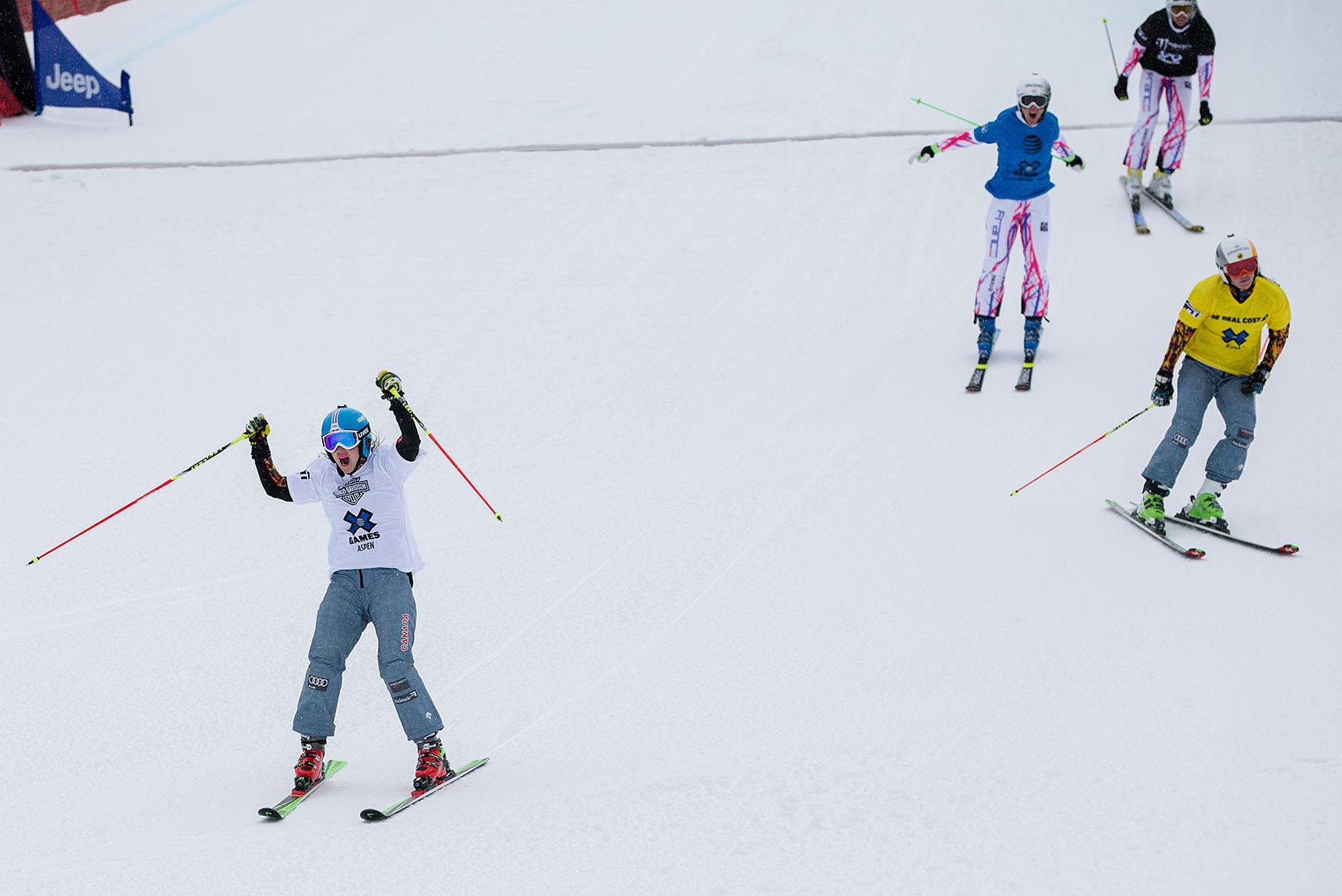 Kelsey Serwa wins W's Skier X