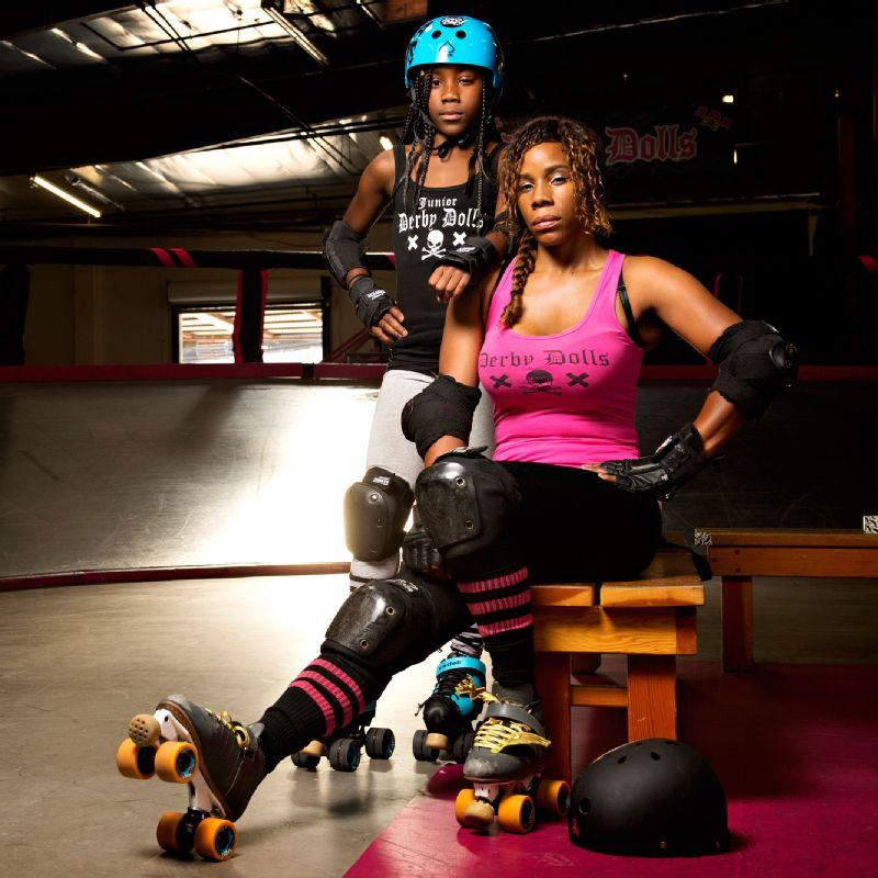 Derby Dolls-Black Mom-Ba and Serena Killams
