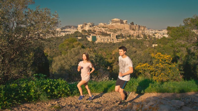 A Go! Running Tour through Athens, Greece.