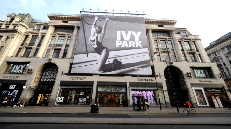 Beyonce's Ivy Park collection advertisement