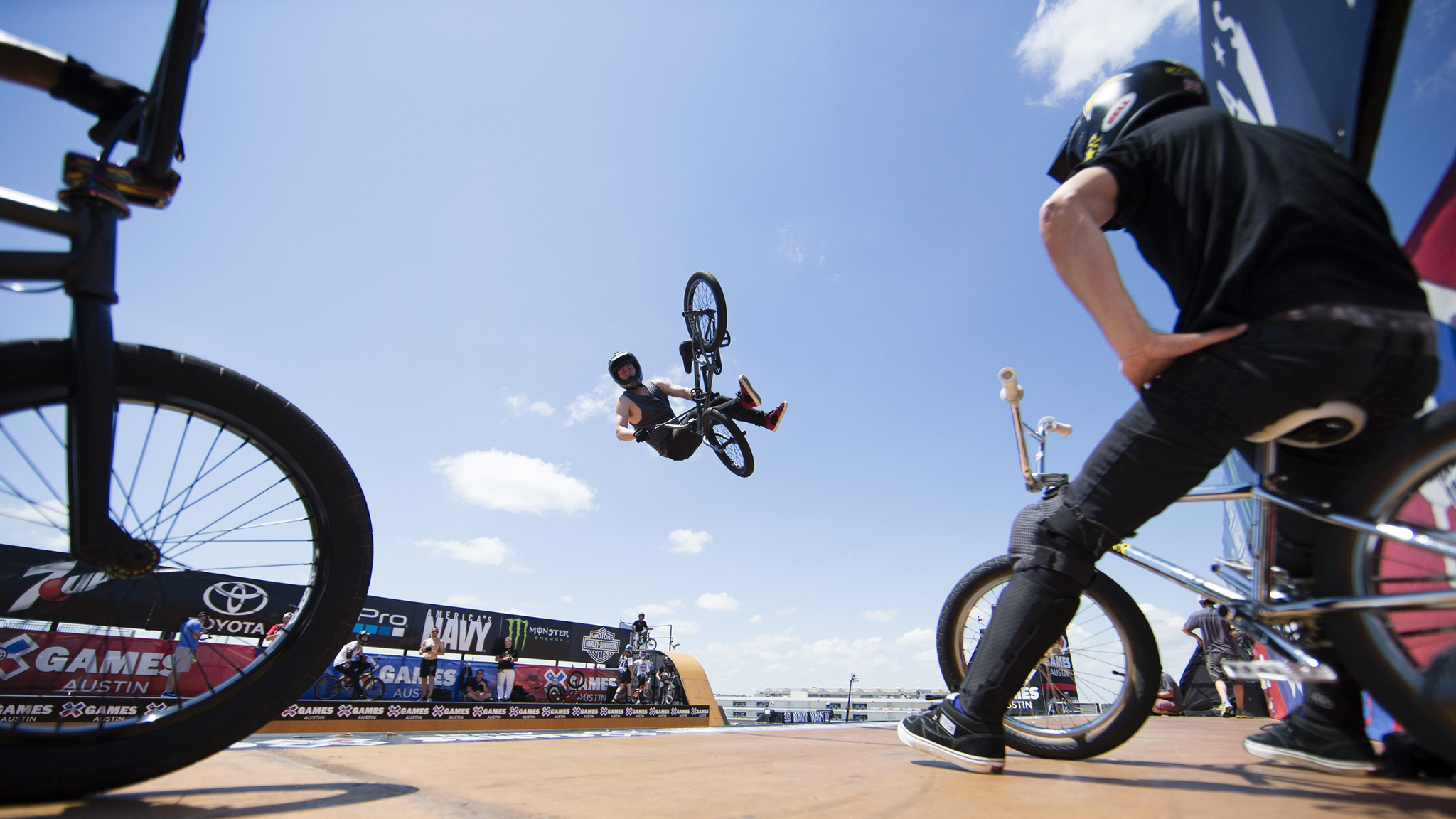 Everyone in BMX likes to say it's not about competition, but the fact is I always come in looking to do my best, says BMX Vert gold medalist Vince Byron.