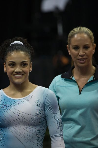 Laurie Hernandez has been with her coach, Maggie Haney, since she was five years old.