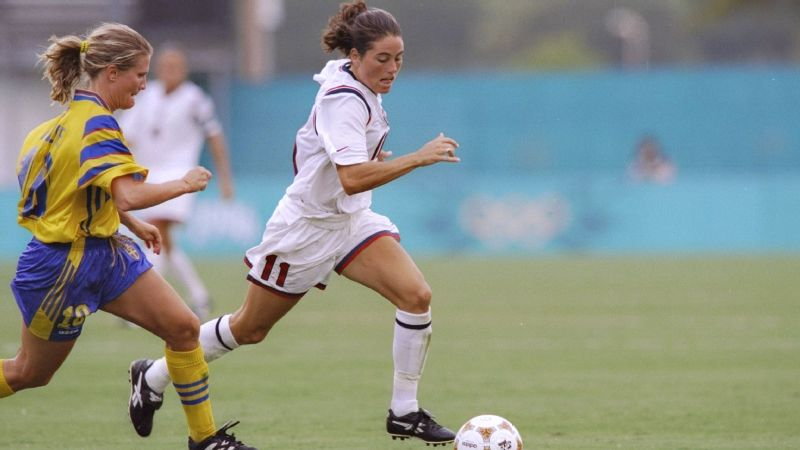 Julie Foudy at the 1996 Olympics