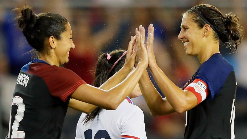 Christen Press, Carli Lloyd