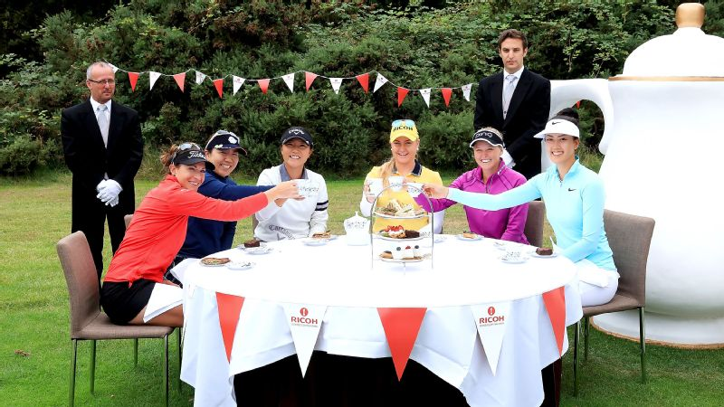 Charley Hull, Michelle Wie, Lydia Ko, Brooke Henderson, Brittany Lang