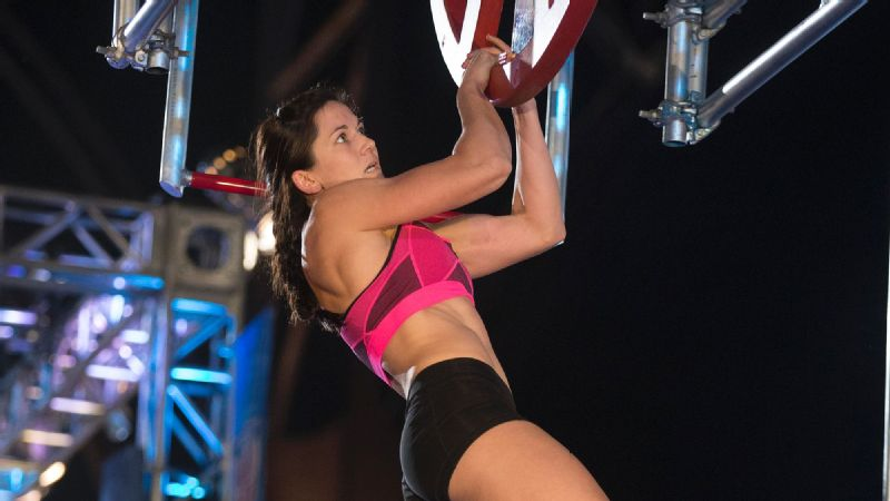 Jesse Labreck competes in the American Ninja Warrior Philadelphia city finals.