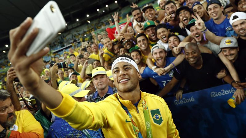 Neymar provided one of the Games' biggest moments, scoring the winning goal on penalties to lead host Brazil to its first Olympic gold in men's soccer.