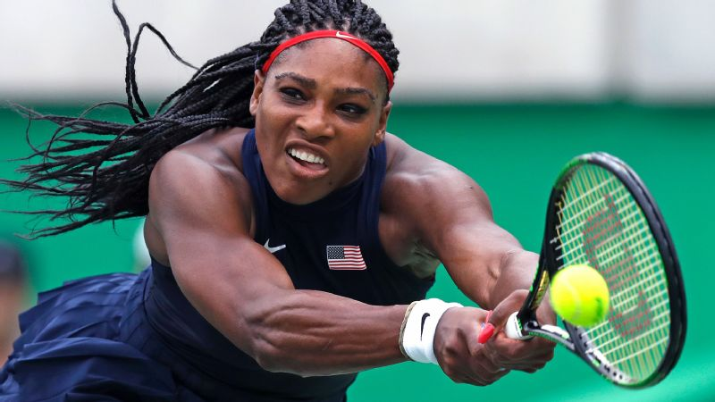 Serena Williams action (file)