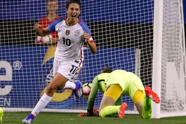 Carli Lloyd is the U.S. women's national team top scorer among active players with 94 goals.