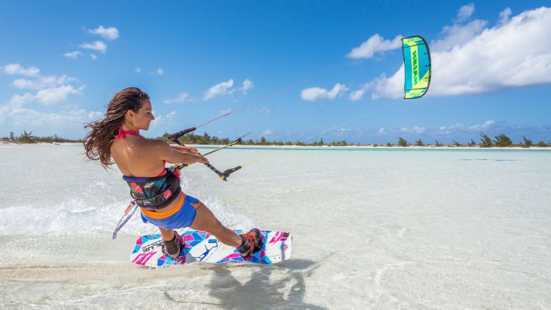 When Hope LeVin was a kid, she was the only non-adult kiteboarder in Turks and Caicos.