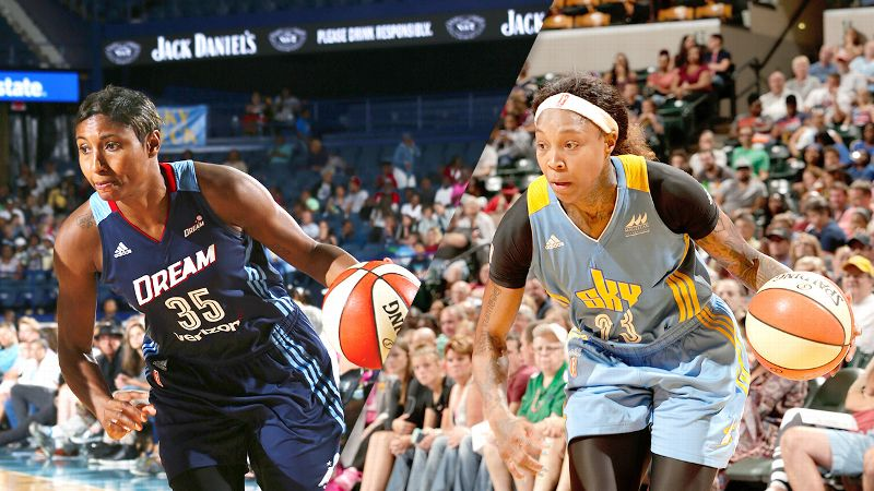 Angel McCoughtry and Cappie Pondexter