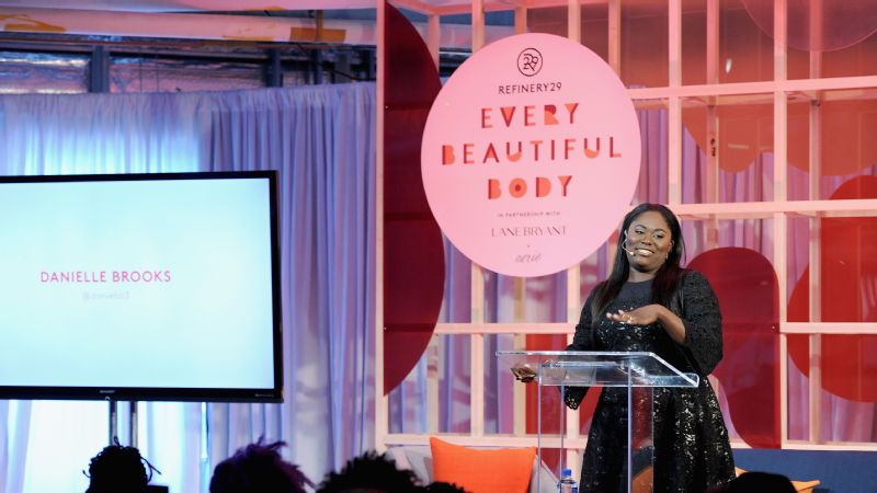 Actress Danielle Brooks speaks on stage during Refinery29's 'Every Beautiful Body' Symposium in New York City.