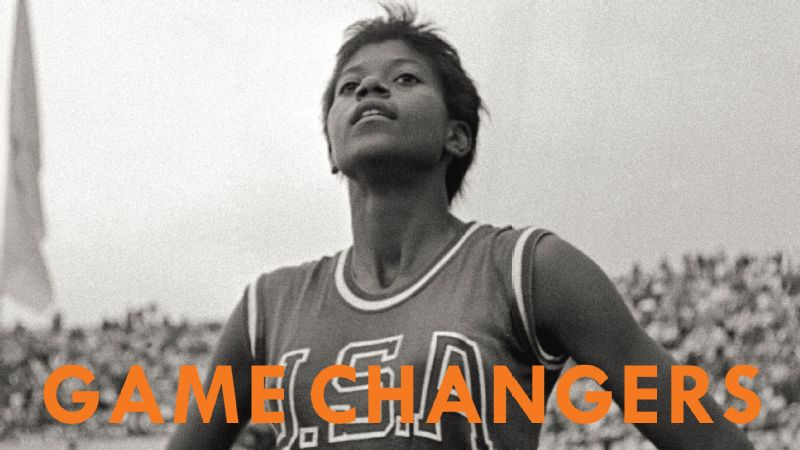 American track and field sprinter Wilma Rudolph stands proud on the cover of Game Changers.