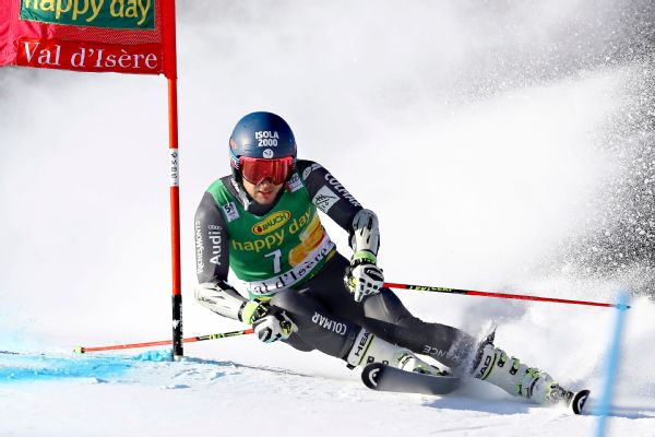 Mathieu Faivre picked his first career World Cup win Sunday in the giant slalom at Val d'Isere, France.