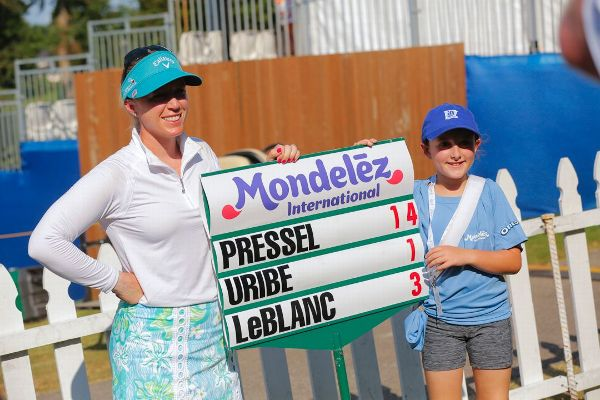 Heather Daly-Donofrio didn't make any special request to have her daughter, Hannah, be a standard bearer for Morgan Pressel's group. But when it happened, Hannah loved every moment.