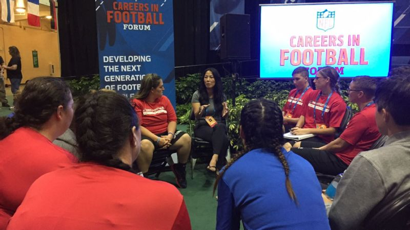 Bills co-owner Kim Pegula was among the speakers at the Women's Careers in Football Forum this week in Orlando.
